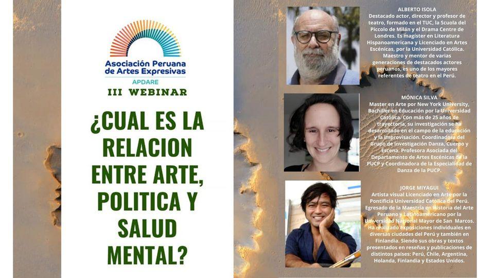 WEBINAR: ¿Cuál es la relación entre arte, política y salud mental?